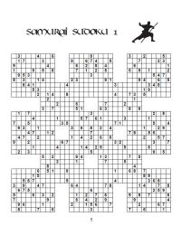 image about Sudoku Samurai Printable named 13-Grid Samurai Sudoku