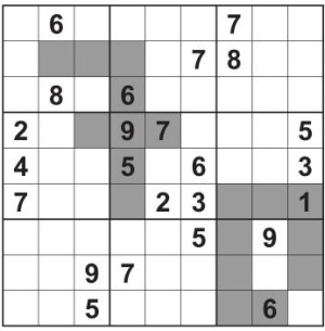 Birthday sudoku interior