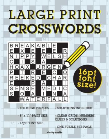 Large Print Crosswords Vol 1-3