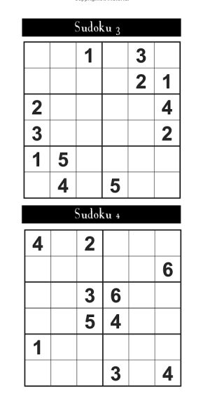 Childrens sudoku interior