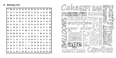 colouring wordsearch interior