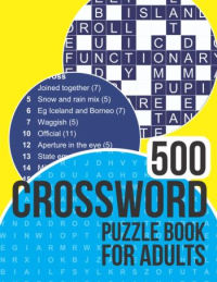 500 Crossword Puzzle Book for Adults
