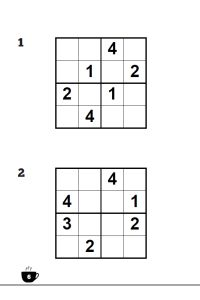 Relaxing sudoku interior