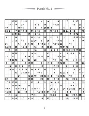 25x25 Sudoku Drucken Extrem Schwer