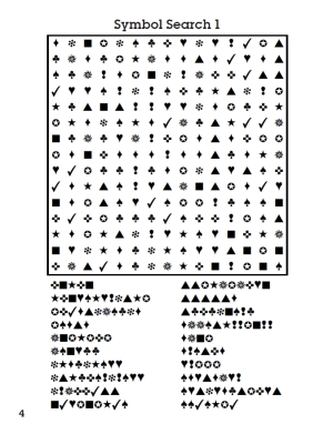 Symbol Wordsearch interior